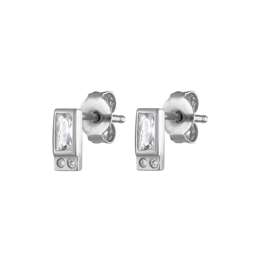 Reflection Studs in Sterling Silver