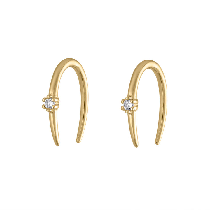 Shooting Star Open Hoop Earrings at Maison Miru Jewelry @maisonmiru