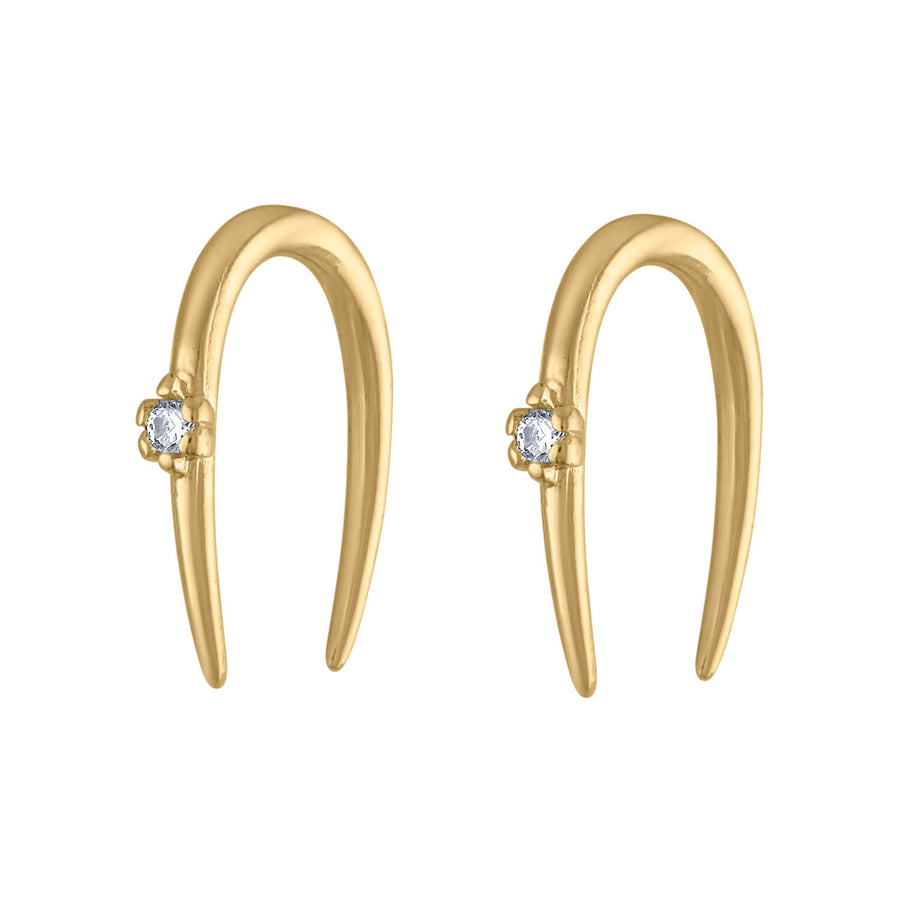 Large Shooting Star Open Hoop Earrings at Maison Miru Jewelry @maisonmiru