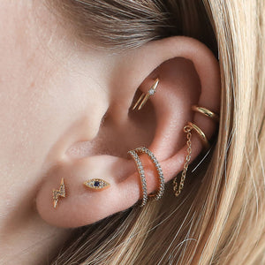 Surprise Ear Bar Trio on model
