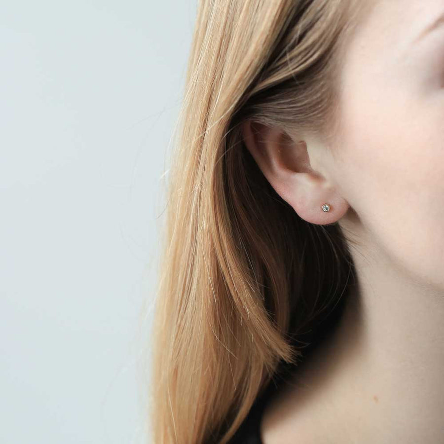 Tiny Diamond Studs at Maison Miru Jewelry @maisonmiru