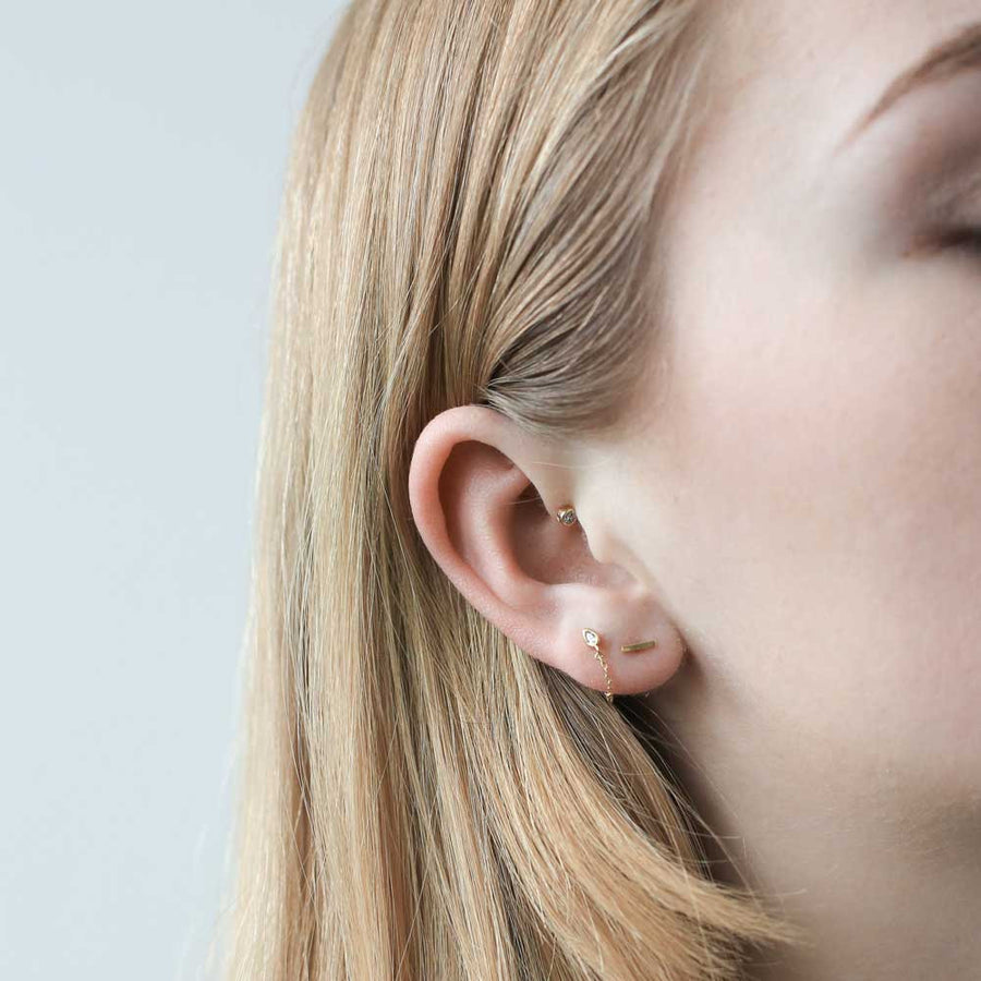Little Bar Studs in Sterling Silver at Maison Miru Jewelry @maisonmiru