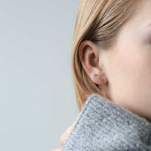 Colette Earrings in Sterling Silver at Maison Miru Jewelry @maisonmiru
