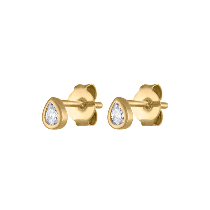 Tiny Dewdrop Studs at Maison Miru Jewelry @maisonmiru