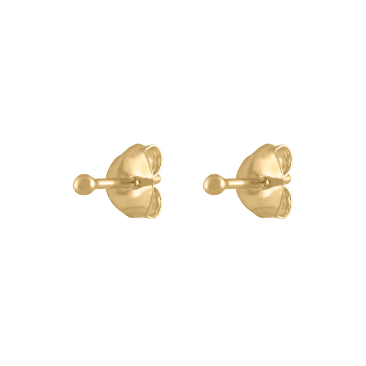 Tiny Secret Studs in 14k Gold