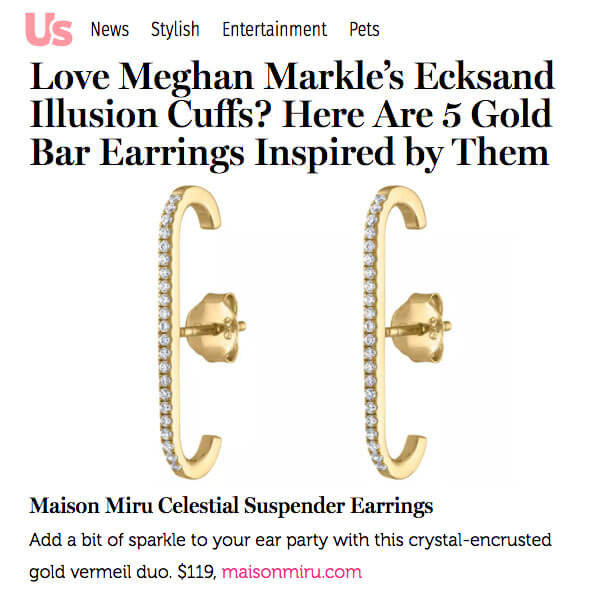 Celestial Suspender Earrings at Maison Miru Jewelry @maisonmiru