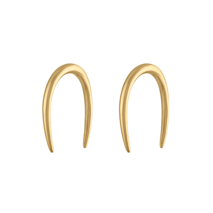 Whisper Open Hoops in 14K Gold