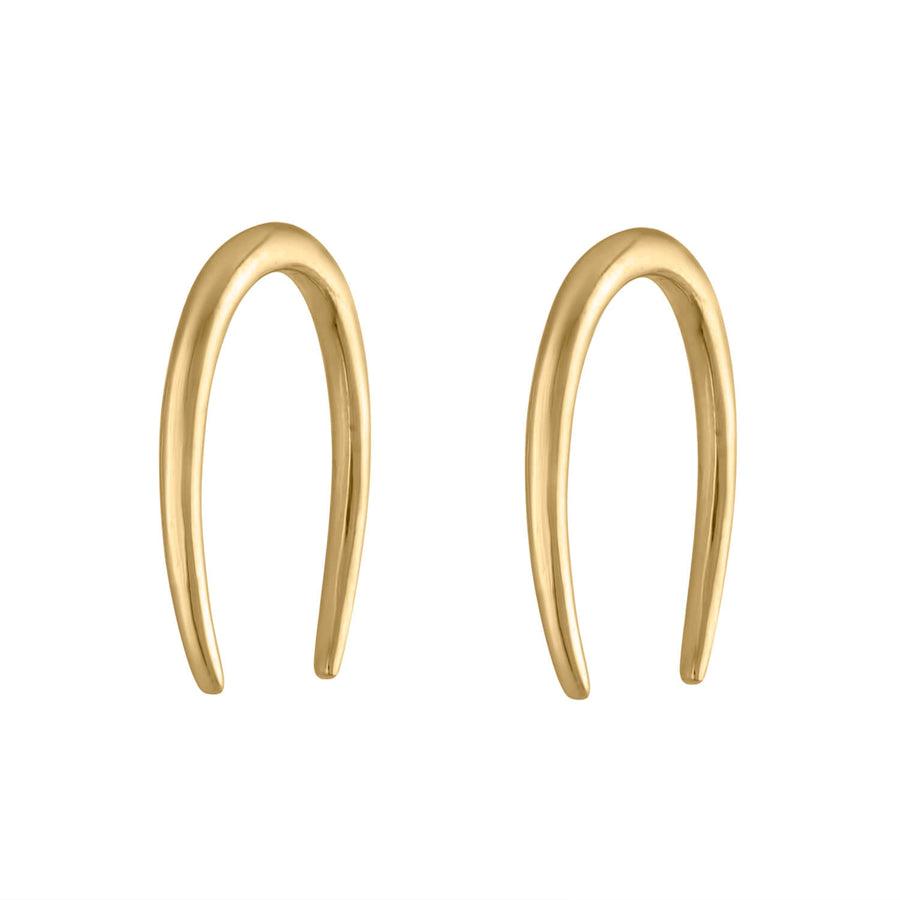 Large Whisper Open Hoop Earrings at Maison Miru Jewelry @maisonmiru