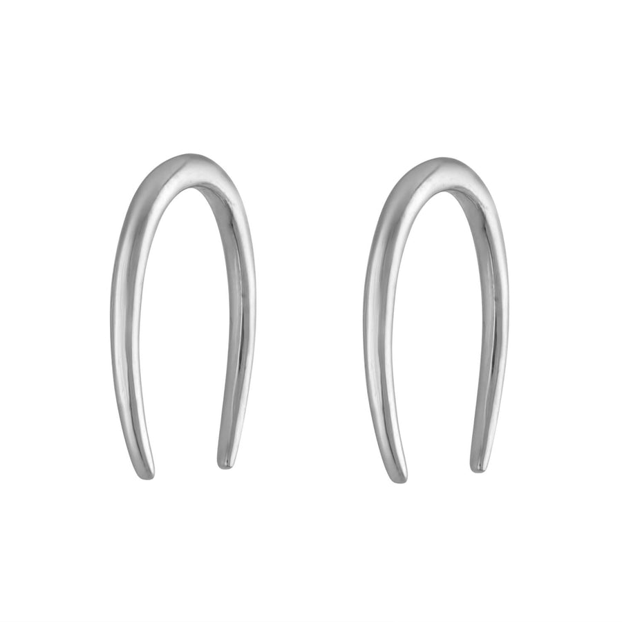 Large Whisper Open Hoop Earrings in Sterling Silver at Maison Miru Jewelry @maisonmiru