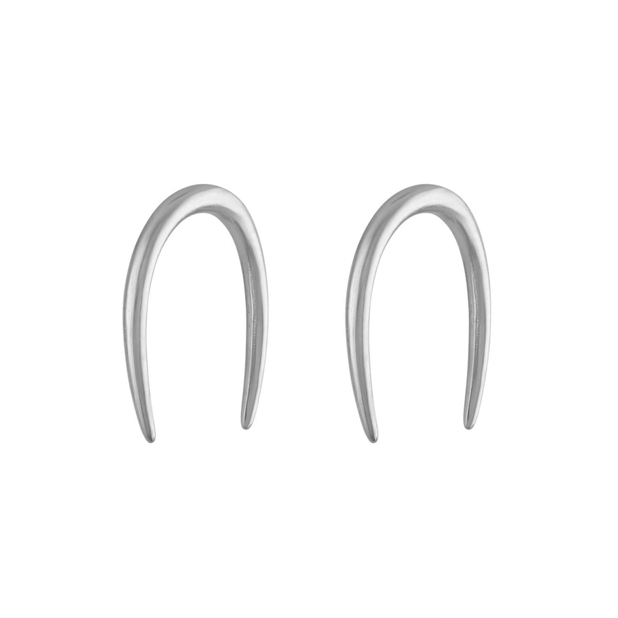 Whisper Open Hoop Earrings in Sterling Silver