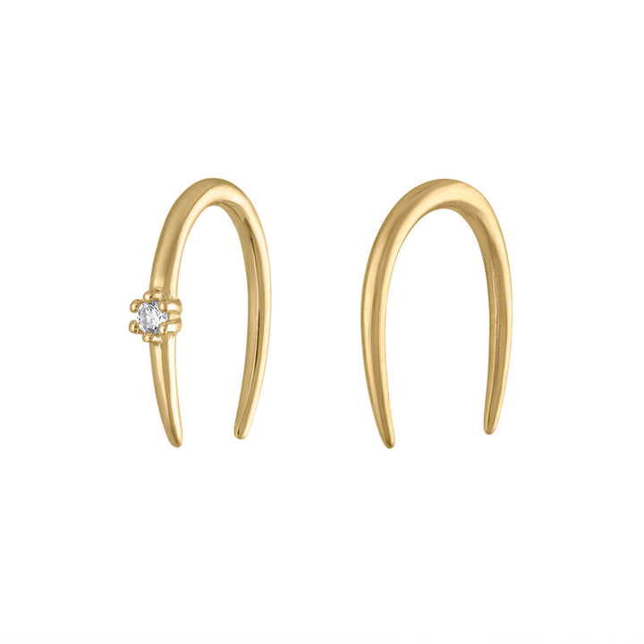 Whispering Star Open Hoop Earrings
