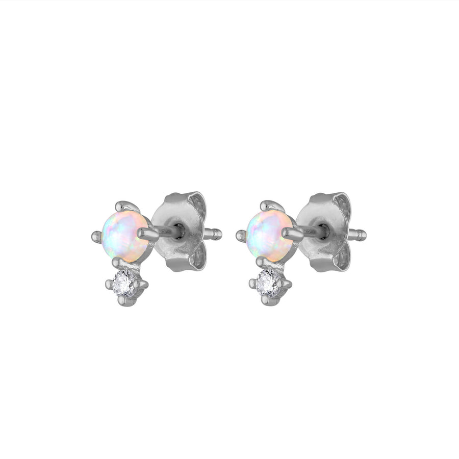 Wish and Hope Opal Studs in Sterling Silver