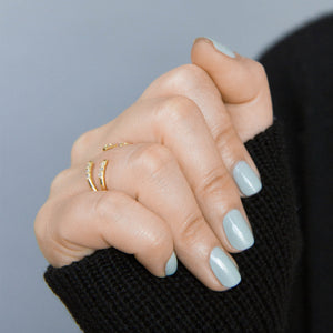 Ariel Ring - our delicate open ring with twin sets of inset crystals - Maison Miru Jewelry @maisonmiru