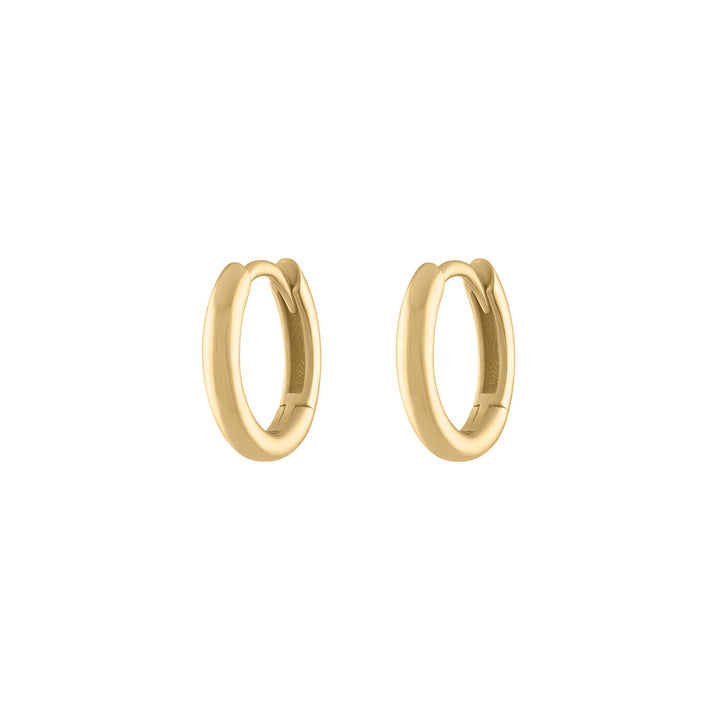Bold Huggie Hoops in 14k Gold