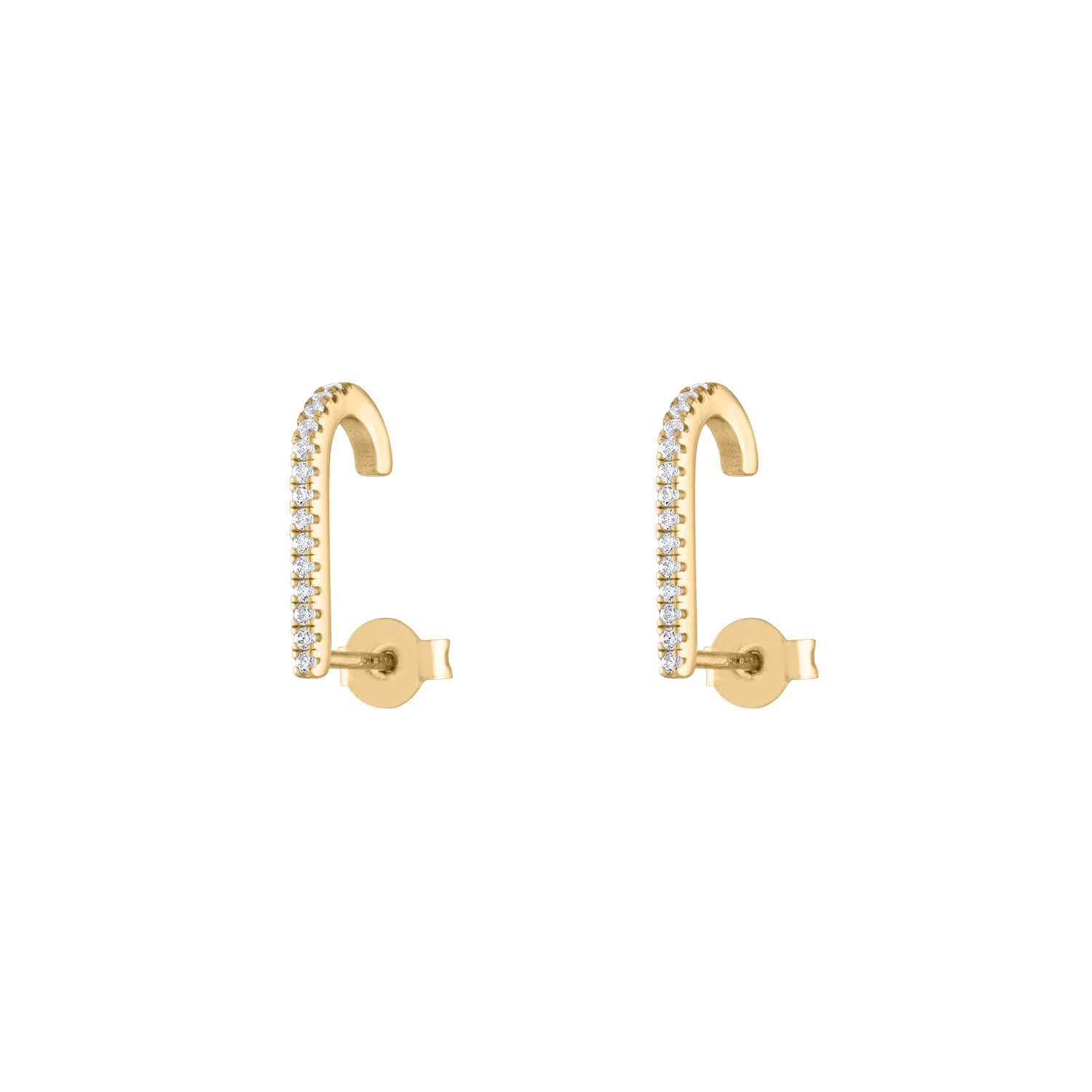 Celestial Hook Earrings in Gold Vermeil