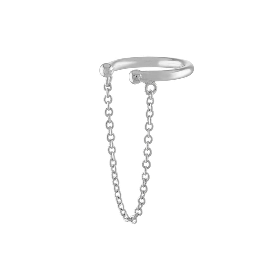 Arc Chain Ear Cuff in Sterling Silver