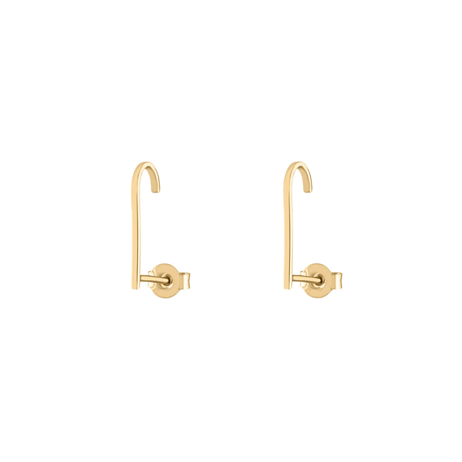 Classic Hook Earrings in Gold Vermeil