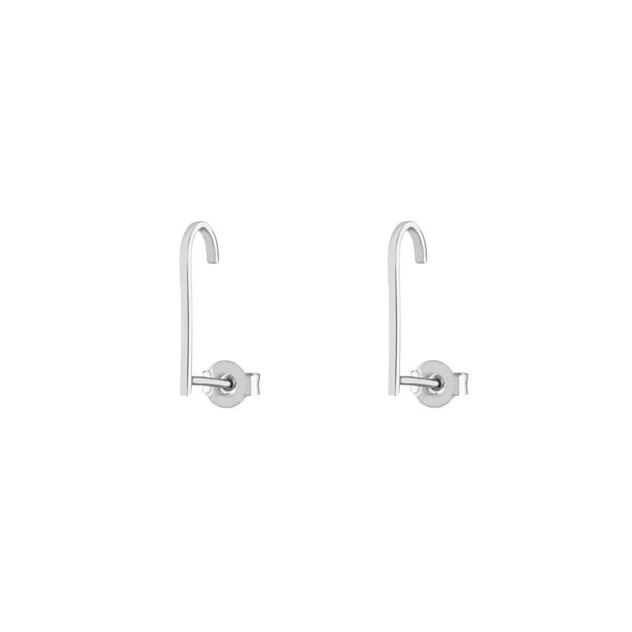 Classic Hook Earrings in Sterling Silver