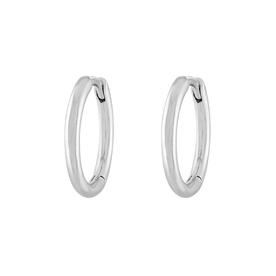 Classic Hoops in Sterling Silver
