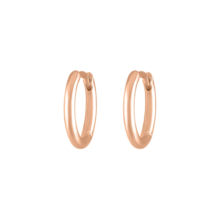 Classic Huggie Hoops in Rose Gold