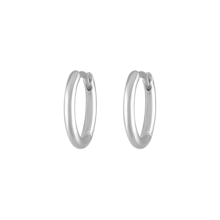 Classic Huggie Hoops in Sterling Silver