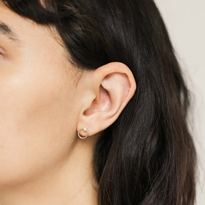 Crystal Orbit Studs on model