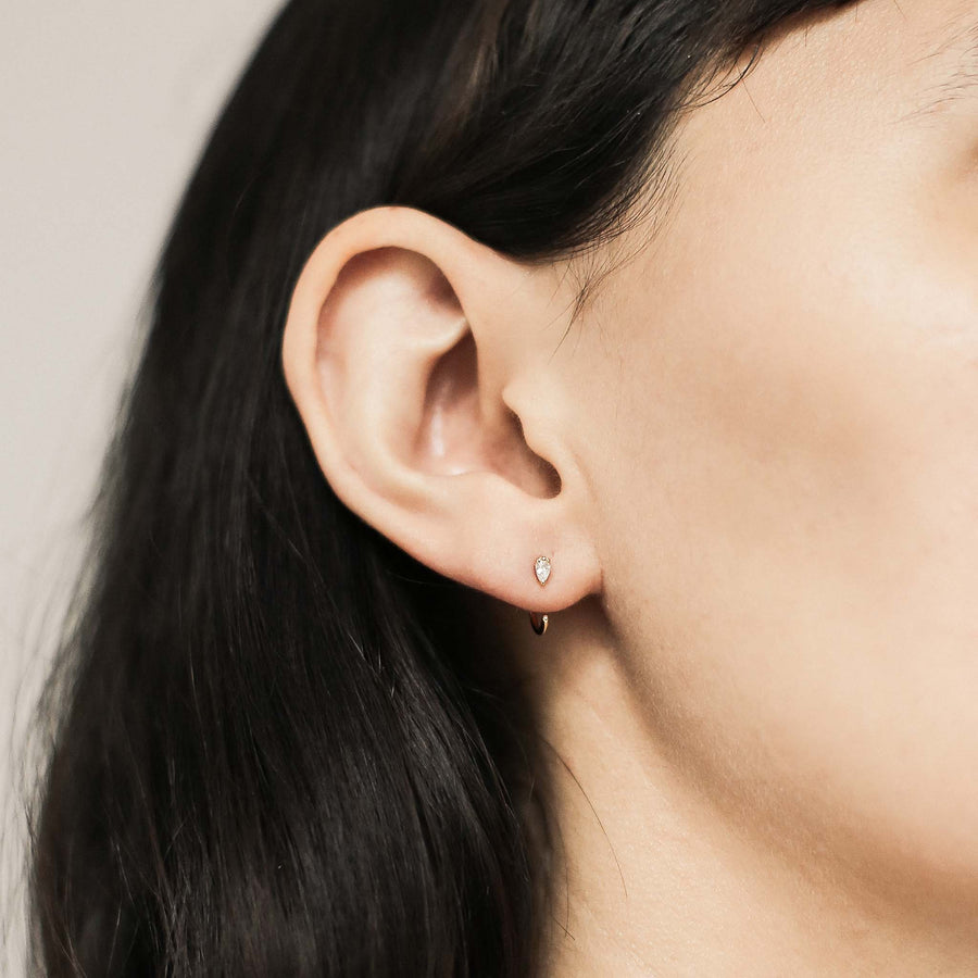 Dewdrop Huggie Earrings at Maison Miru @maisonmiru