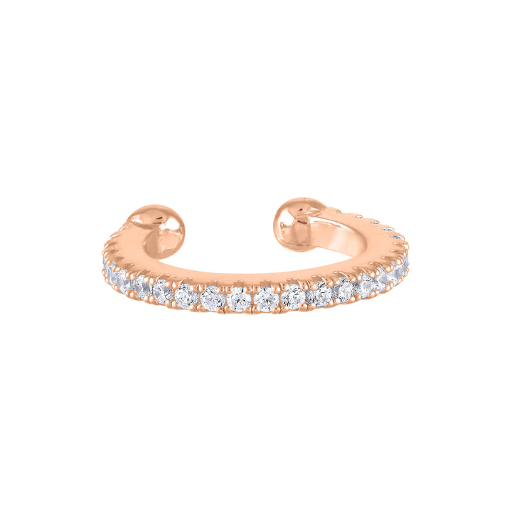 Eternity Arc Ear Cuff in Rose Gold