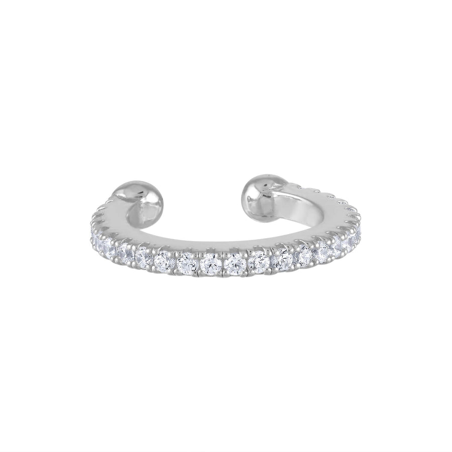 Eternity Arc Ear Cuff in Sterling Silver
