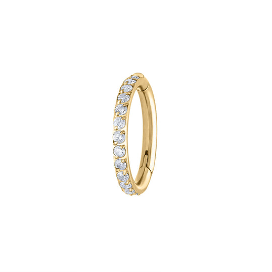 Eternity Cartilage Hoop in Gold
