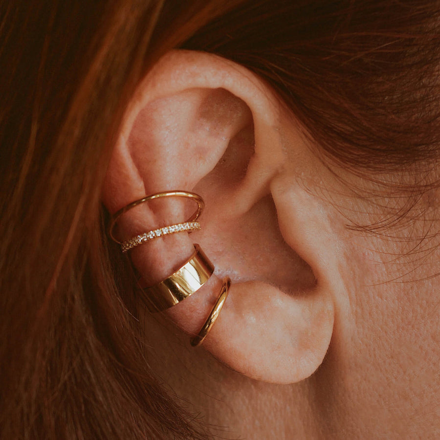 Eternity Echo Ear Cuff on model