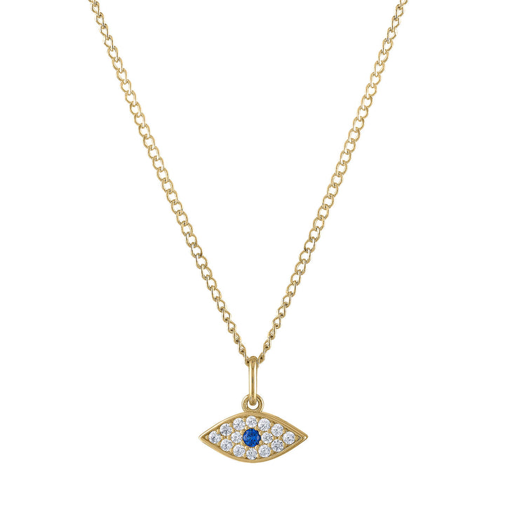 Evil Eye Charm Necklace in Gold