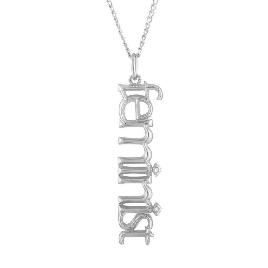 Feminist Charm Necklace in Sterling Silver