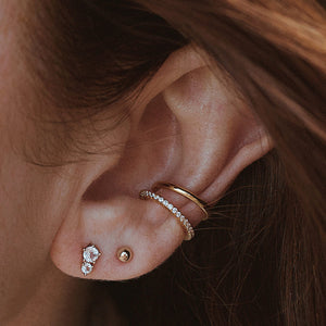 Essential Ear Cuff Trio on model