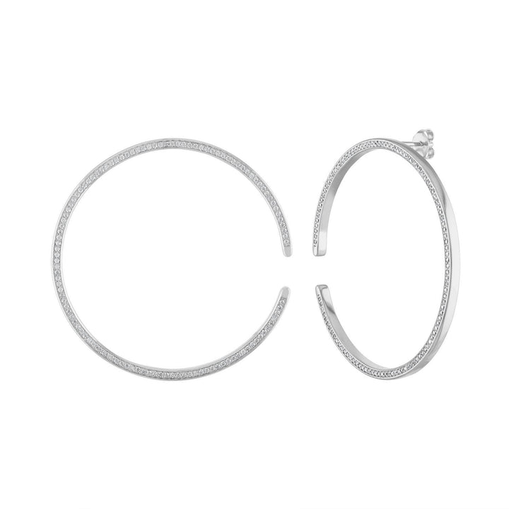 Large Celestial Illusion Hoops in Sterling Silver