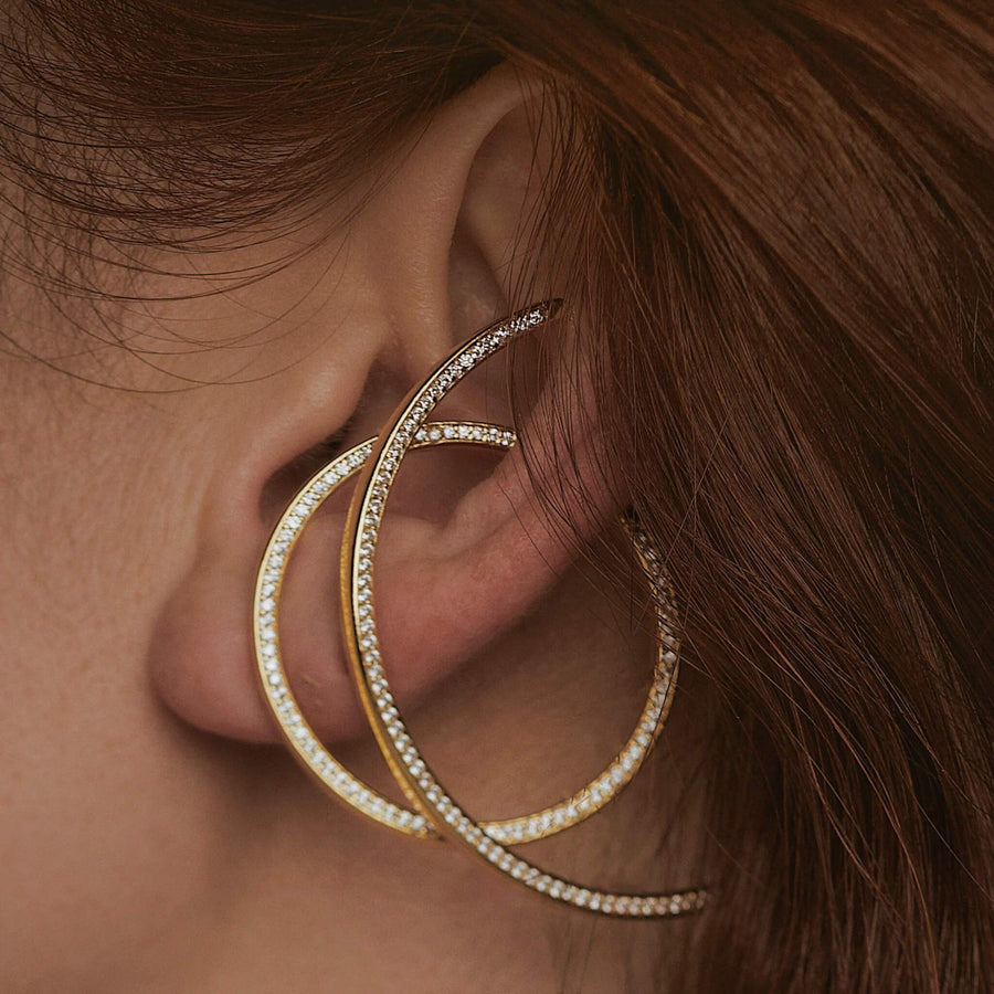 Celestial Illusion Hoops on model