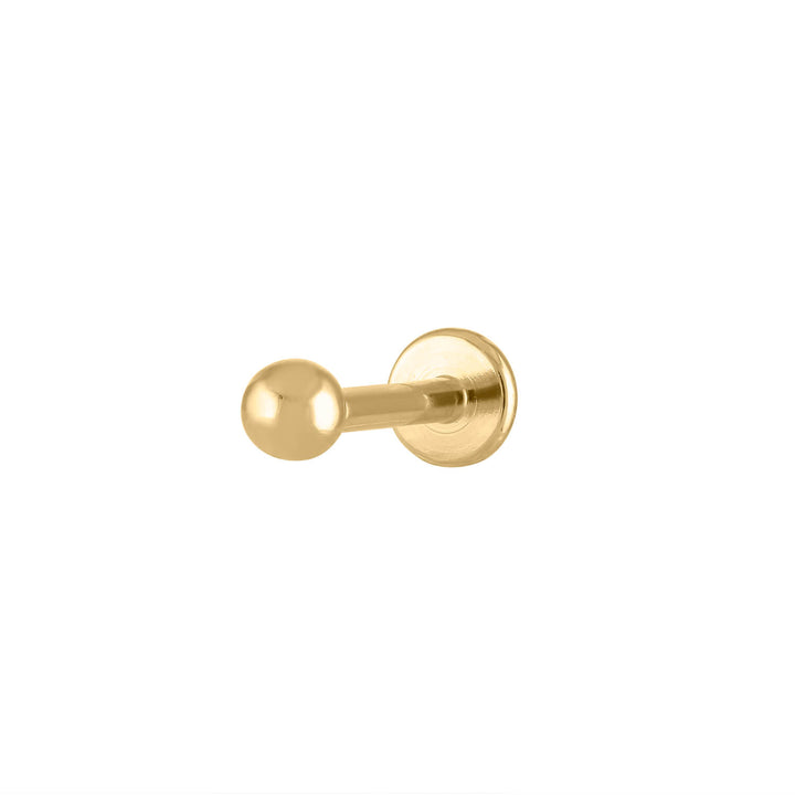 Little Sphere Threaded Flat Back Earring in Gold