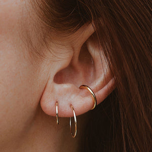 Forever Hoops in 14k Gold on model