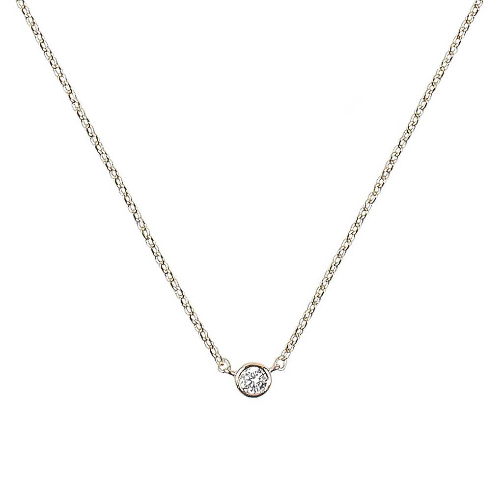 Zelda Necklace Our delicate and dainty crystal solitaire gold necklace - Maison Miru Jewelry (@maisonmiru)