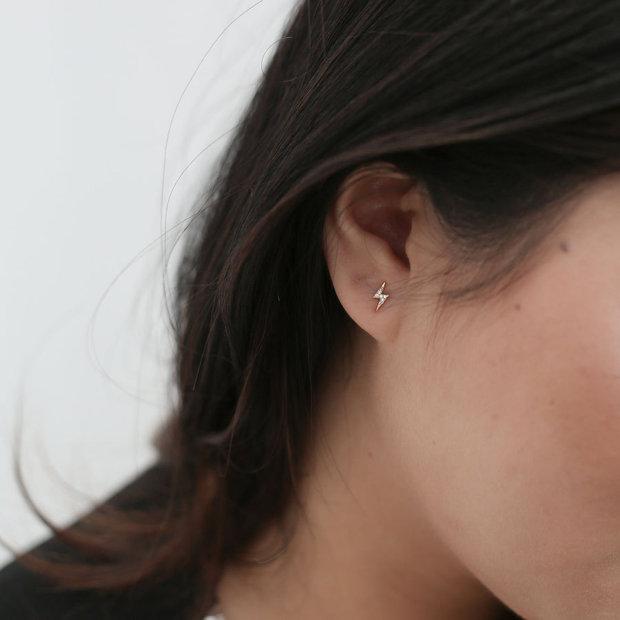 Pave Lightning Studs on model