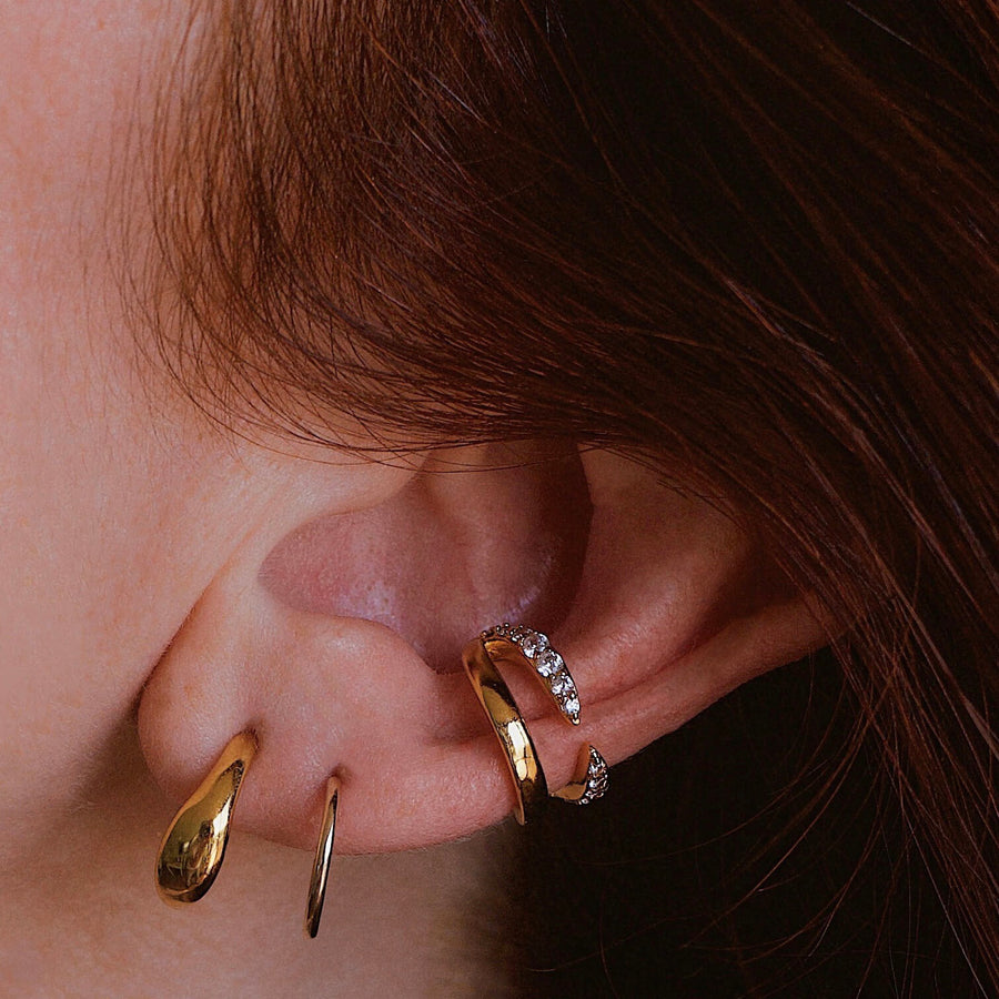 Rebel Ear Cuff Trio on model
