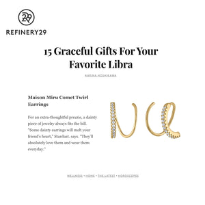 Comet Twirl Earrings as seen on Refinery29