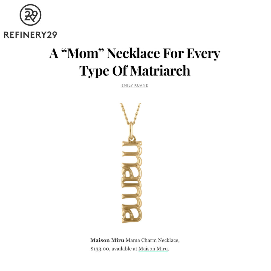Mama Charm Necklace as seen on Refinery29