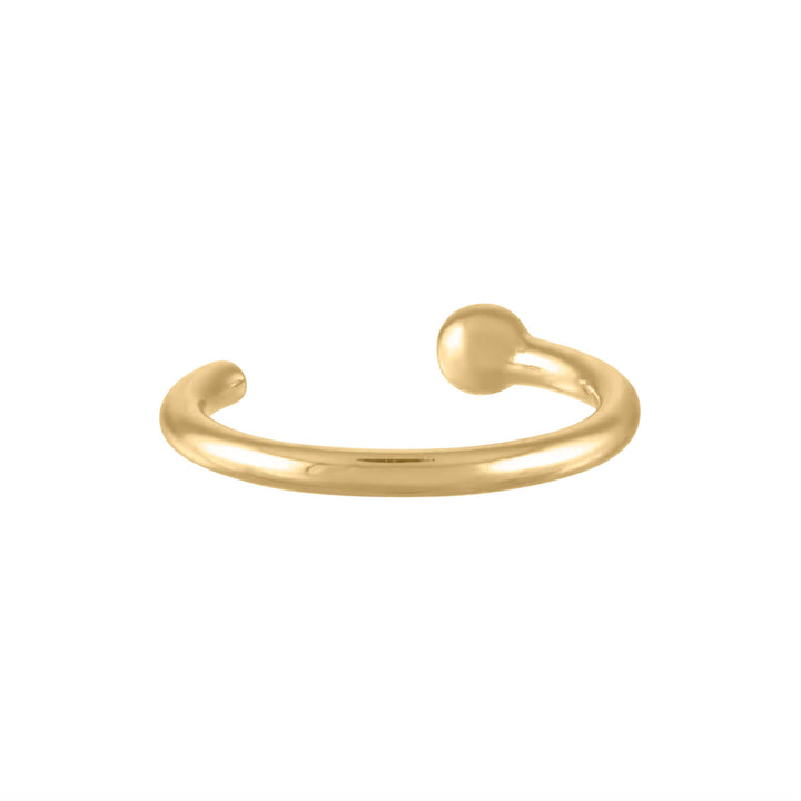 Tiny Secret Nose Hoop Ring in 14k Gold (6mm)