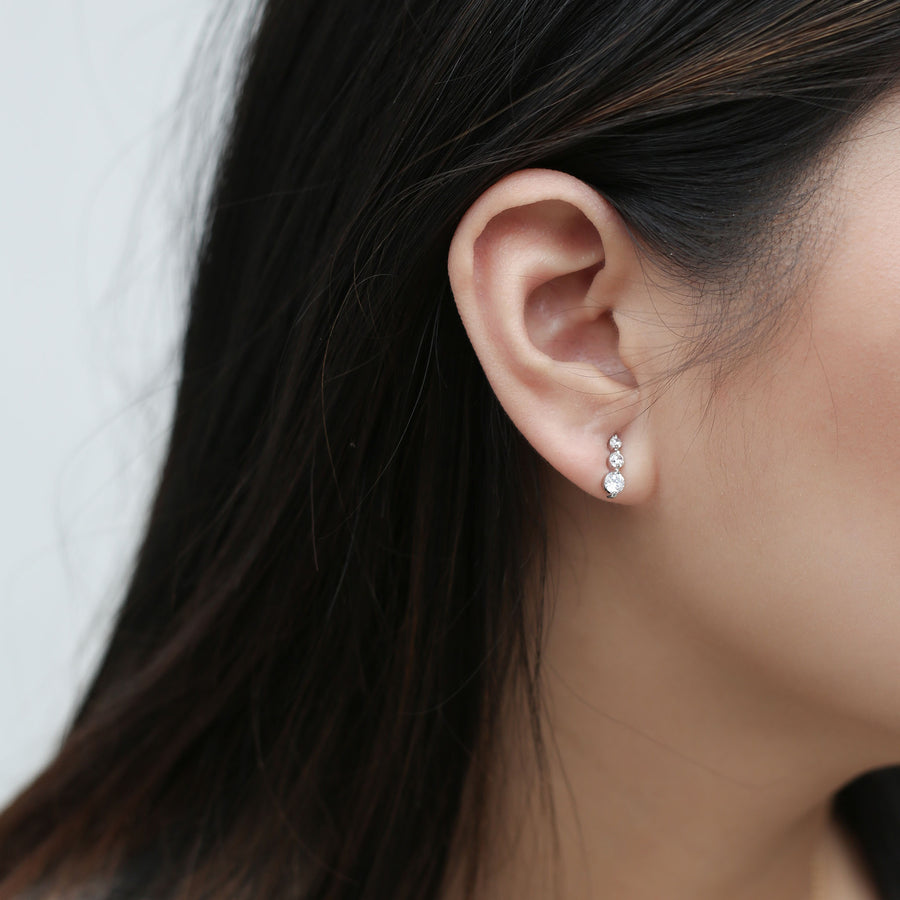 Stella Earrings on model