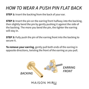 How to Wear a Push Pin Flat Back