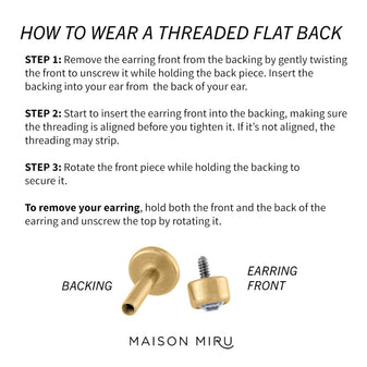How to Wear a Threaded Flat Back