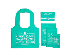 Zero-Waste shopping set groen