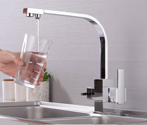 3in1 Healthy water keukenkraan Flat chroom