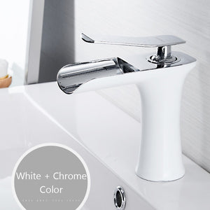 Wan Waterval Multicolor Wastafelkraan wit chroom